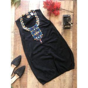 Nanette Lepore Black Sweater Dress Sleeveless